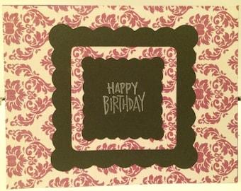 Happy Birthday Card -Purple 1
