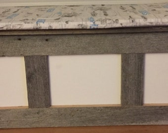 Custom Made Barn Wood Storage Window Seat