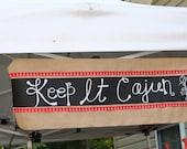 Burlap and Chalkboard Crawfish Boil Banner