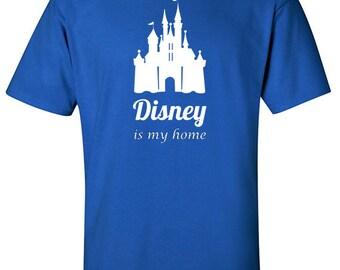 Disney Shirt | Disney Is My Home | Family Disney Shirts | Disneyland Shirts | Princess Shirt | Girls Disney Shirts | Disney Sweaters | S446