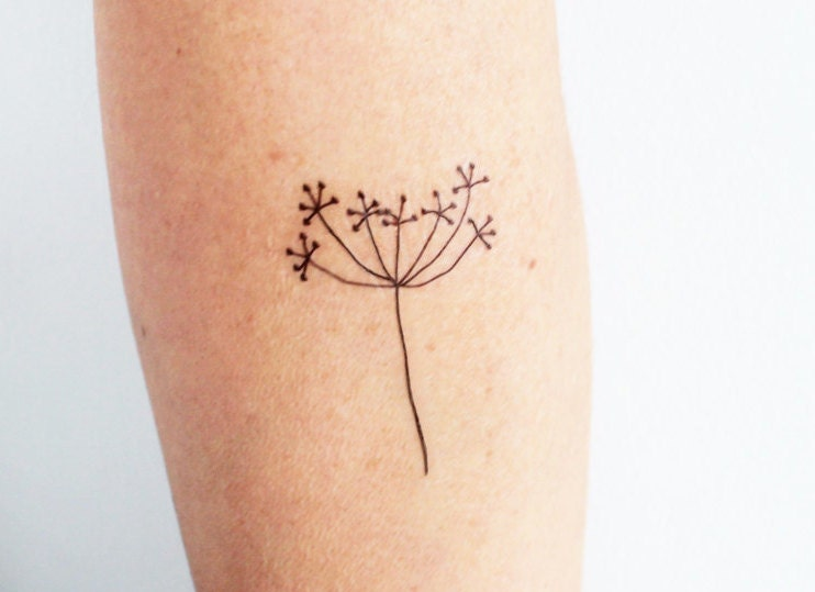 3 hand drawing flower temporary tattoos minimalist floral for 3x3 tattoo ideas