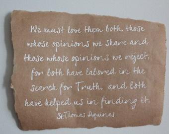 Home Decor- St. Thomas Aquinas: Truth