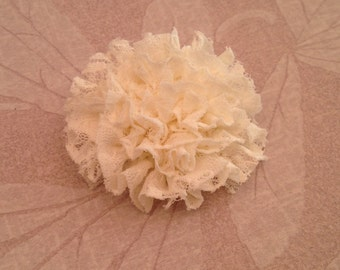 Delicate Lace Hair Bow Clip