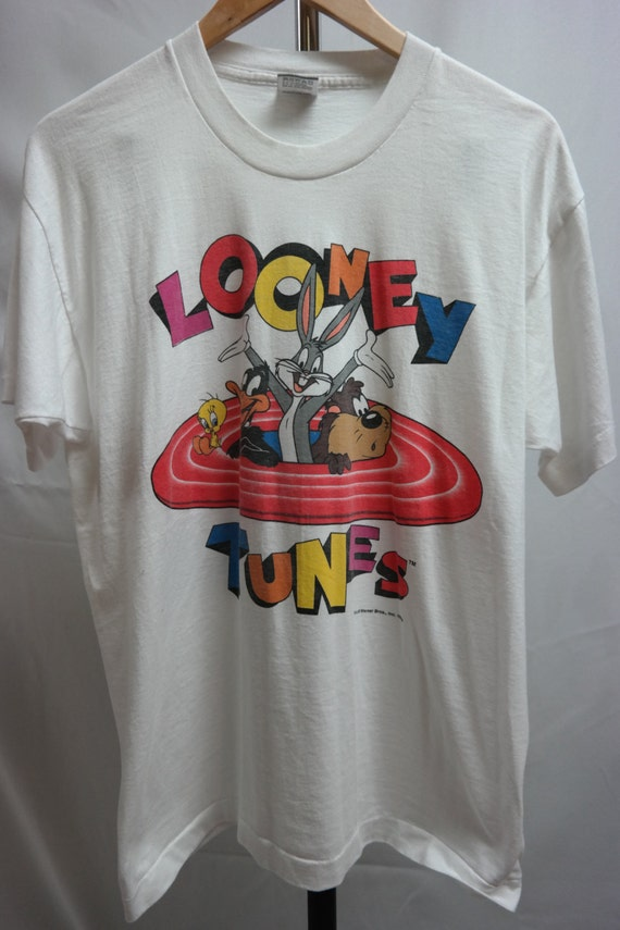 vintage looney tunes t shirt size large best fruit of the loom