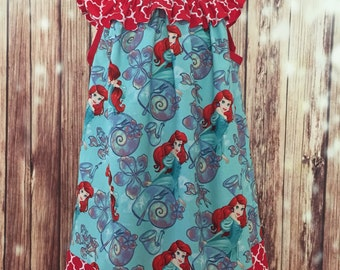 Ariel Dress, The Little Mermaid peasant dress, The Little Mermaid sundress, Ariel peasant dress, Under the sea dress