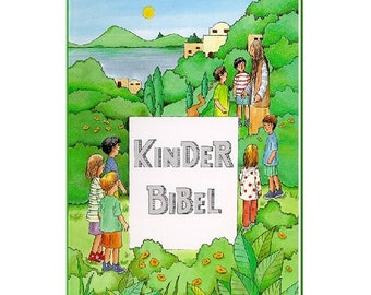 Personalized gift for baptism or communion with name & dedication - baptism gift - children's Bible