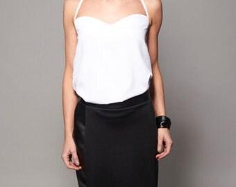 Skirt leather skirt black skirt short skirt woman clothes office clothing