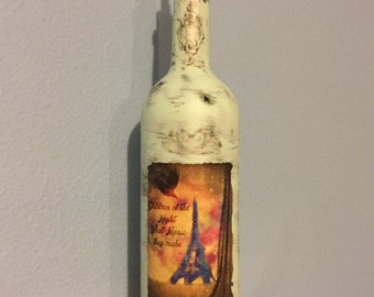 Vintage/Goth Decorated Bottle