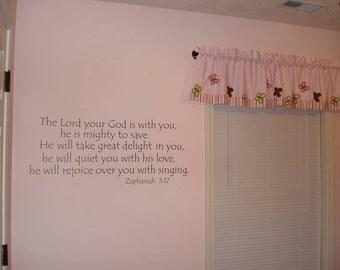 Zephaniah 3:17 wall art