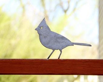 Decorative Metal Bird - Cardinal    porch, deck, garden, patio, flowerbed decor