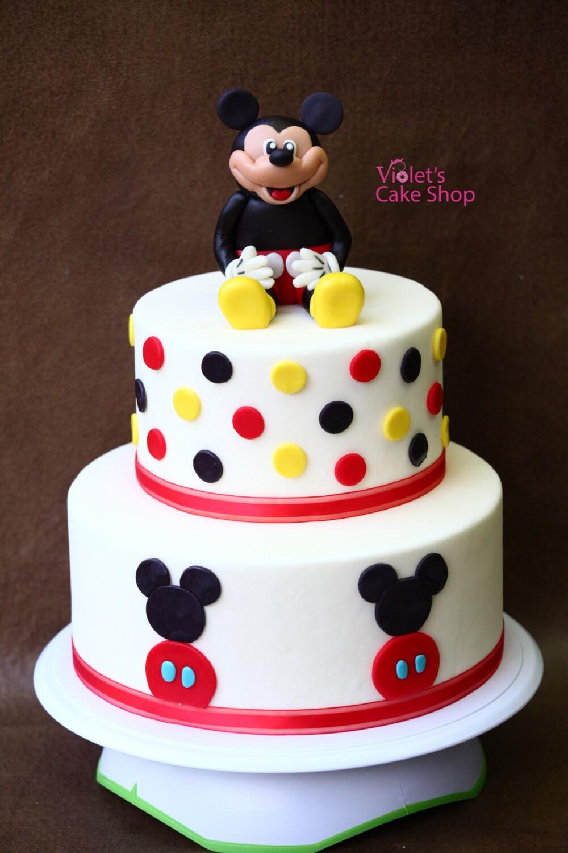Mickey Mouse Edible Fondant Cake Topper Birthday Topper