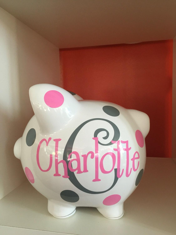 Piggy bank children 39 s personalized piggy bank large piggy for Childrens piggy bank