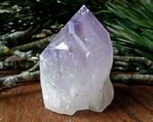 """Large amethyst crystal w/ rainbows from Brazil (3.1"""") - amethyst point, raw amethyst, rough amethyst, crown chakra, february birthstone"""
