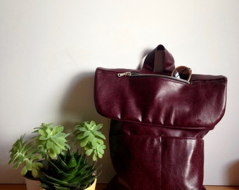 Bordeaux Eco Leather Backpack