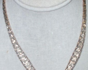 FAS Thick Sterling V Shaped Necklace