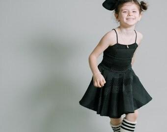 Girls merino wool handknit legwarmers, black and ivory, FARRAH LEGWARMERS , dance, ballet