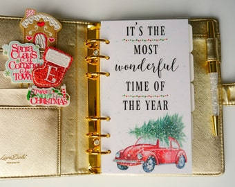 It's The Most Wonderful Time Of The Year Personal, A5 and Pocket Size Planner Dashboards