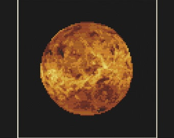 Venus Cross Stitch Pattern PDF - Planet Solar System