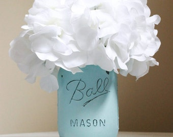 Light Blue Mason Jar