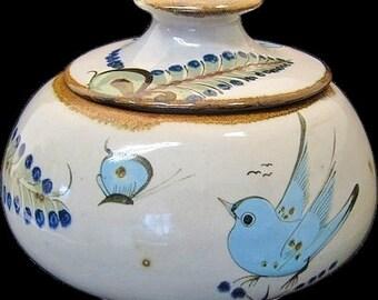 Large Signed Ken Edwards Tonala Mexico Pottery Soup Tureen
