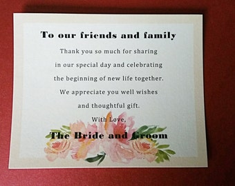 Tropical Wedding Thank You Card Template