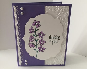 "Stampin Up handmade ""Thinking of You"" card"