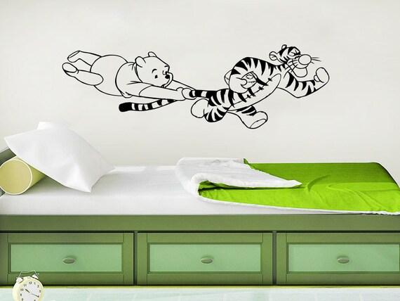 Winnie the pooh wall decal vinyl sticker decals classic winnie for Classic pooh wall mural
