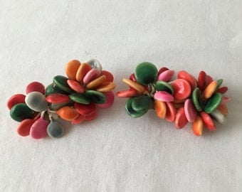 Vintage early 1950 Colorful Shoe Clips