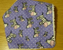 Purple Zebra Baby Bandanna Bib