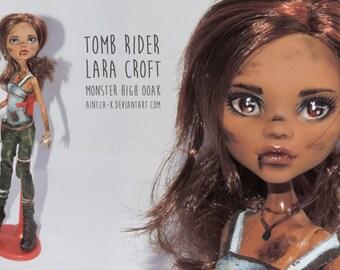 Lara Croft | Tomb Raider | Monster High ooak
