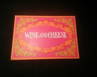 Vintage Wine and Cheese Invitations, Vintage Hallmark Wine Invitations, Vintage Hallmark Some and Cheese Invitations, Hallmark Invitations