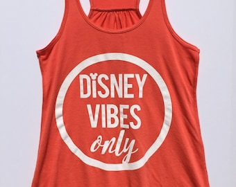 Disney Vibes Only Tank (Coral)