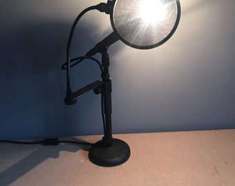 Real SM58 microphone desk lamp with pop shield shade