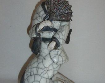 Geisha raku ceramic