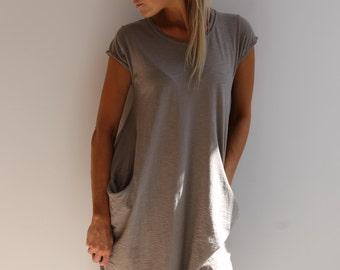 Mocha Cap Sleeve Jersey Dress