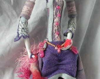 OOAK Cheshire Cat Art Doll