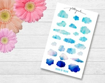 Blue cloud planner stickers