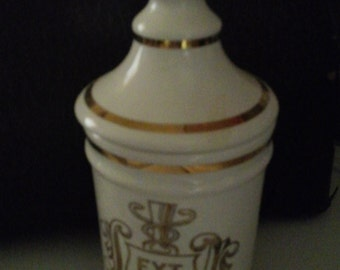 Vintage Extract Opium Apothecary Jar