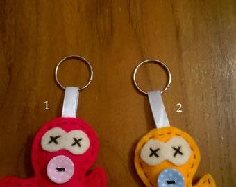 soft felt Octopus keychain