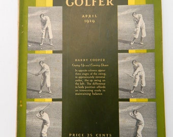1929 The American Golfer .... April Issue .... Vintage Golf Magazine