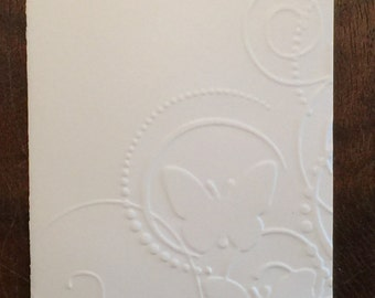 Hand Made Embossed Card