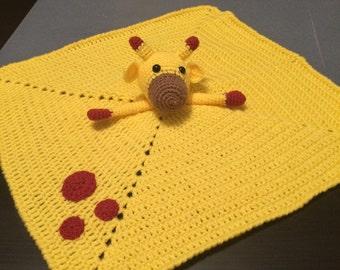Giraffe Lovey! Crochet Baby Blanket!
