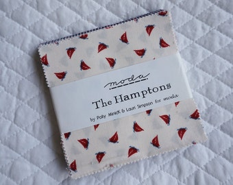 The Hamptons - Charm Pack - 36 pieces - By Polly Minick and Lauri Simpson - Moda Fabric