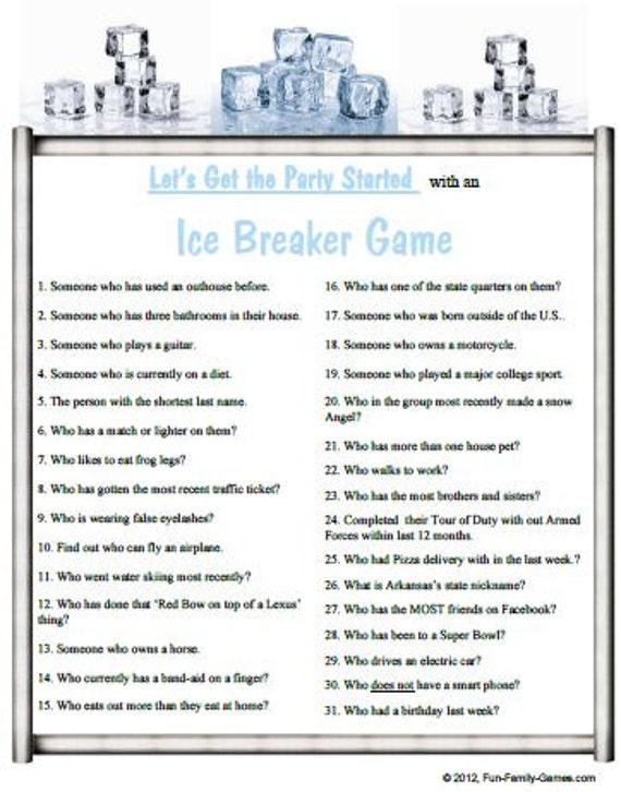 Ice breakers for swinger parties Ice Breaker Games For Swingers