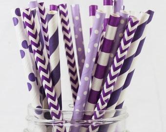 Straws, Tangled Theme Straws, Party Straws, Purple Straws, Popular Straws, Paper Straws, Polka Dot Straws, Birthday Straws, Baby Shower
