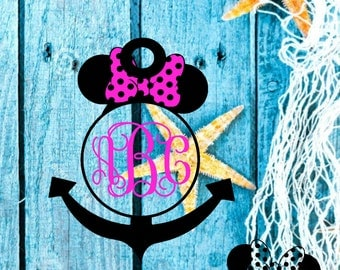 Monogram Minnie and Mickey designs-SVG, PNG and silhouette studio files-perfect for silhouette cameo and cricut-personal and commercial use