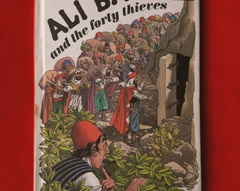 Vintage Ladybird Book Ali Baba and the forty thieves. Matt Hardback 1970s.