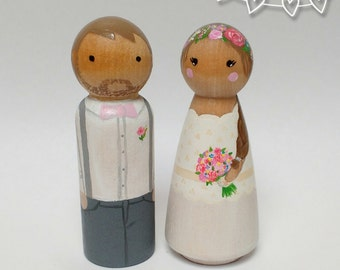 Custom, Personalised Wedding Couple,  cake topper