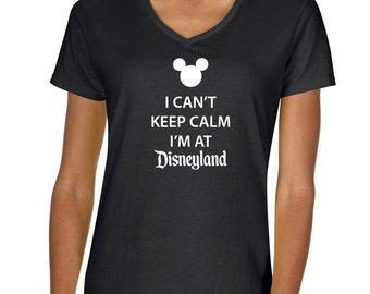 "I Can't Keep Calm ""Disneyland"" Vneck Tshirt"