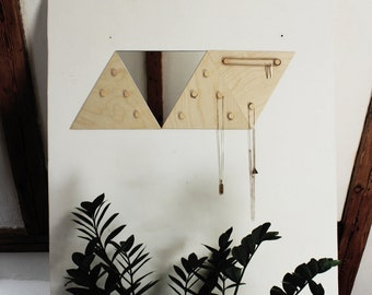 TRIANGLE JEWELLERY DISPLAY / hanger holder organiser with a mirror #3